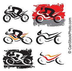オートバイ, モーターバイク, アイコン
