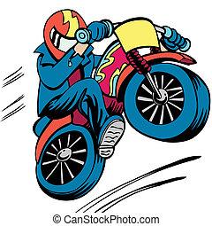 オートバイ, 人