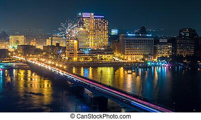 カイロ, 夜