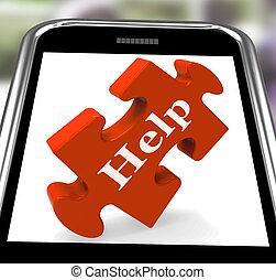 カウンセリング, smartphone, 助け, ショー