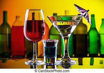 カクテル, バー, アルコール, 飲み物