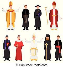 カトリック教, 別, セット, キリスト教徒, 宗教, 司祭, ∥あるいは∥, 衣服
