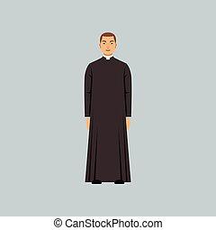 カトリック教, 司祭, 牧師, confession, イラスト, ベクトル, 代表者, 宗教, ∥あるいは∥