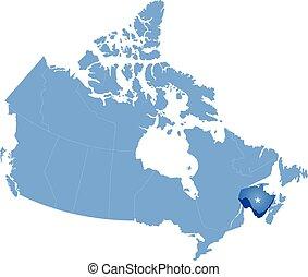 カナダの地図, 州, -, ニューブランズウィック