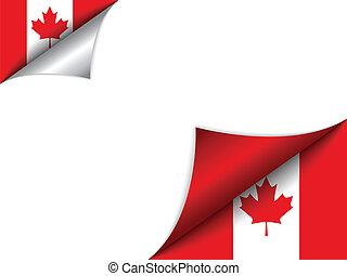 カナダ, 国, 旗, 回転しているページ