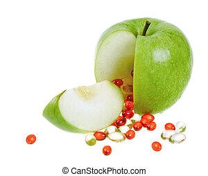 カプセル, アップル, ビタミン