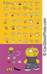 カボチャ, 子供, 漫画, halloween2