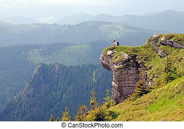 カメラマン, 岩, 巨大