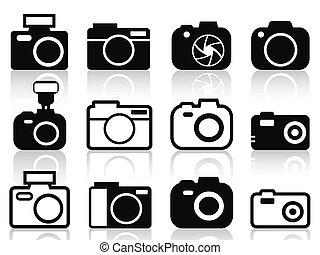 カメラ, セット, アイコン