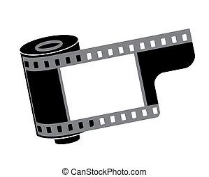 カメラ, 回転しなさい, ベクトル, フィルム, イラスト