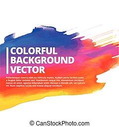 カラフルである, はね返し, ベクトル, デザイン, 背景, インク