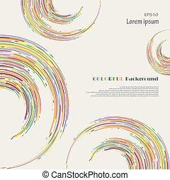 カラフルである, パターン, 抽象的, ライン, バックグラウンド。, ストライプ, 円