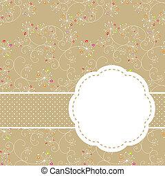 カラフルである, パターン, 挨拶, 春, seamless, 花, カード