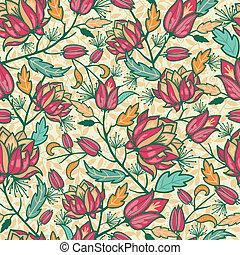 カラフルである, パターン, 葉, seamless, 背景, 花