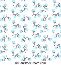 カラフルである, パターン, seamless, 背景, 白い花