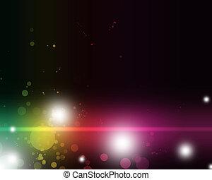 カラフルである, 抽象的, 活気に満ちた, ライト, 陰, 刺激