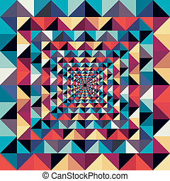 カラフルである, 抽象的, pattern., seamless, 効果, ビジュアル, レトロ