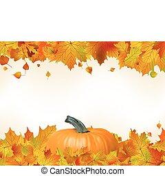 カラフルである, 葉, eps, pumpkin., 秋, 8