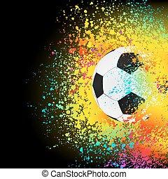 カラフルである, eps, 背景, 8, サッカー, ball.