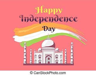 カラフルである, independance, インド, 旗, 日, 幸せ