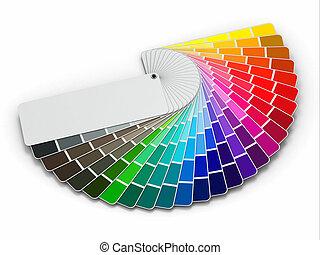 カラーパレット, 白い背景, ガイド