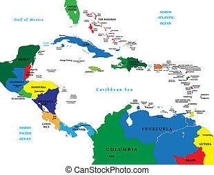 カリブ海, アメリカ, 中央である