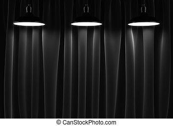 カーテン, ランプ, 3