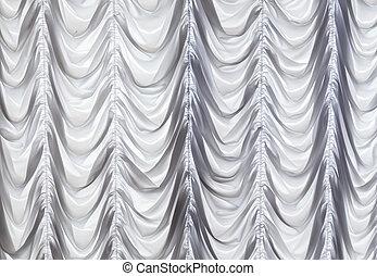 カーテン, 白い背景