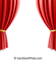 カーテン, 白, 劇場, 赤