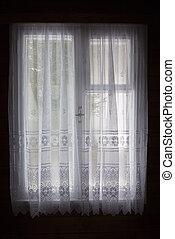 カーテン, 窓, 白