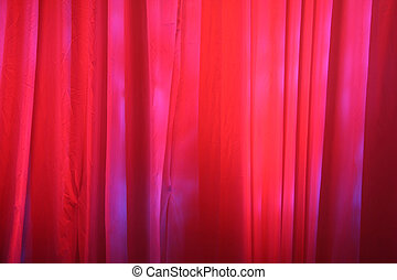 カーテン, 赤, ステージ
