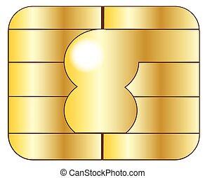 カード, クレジット, チップ
