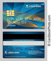 カード, クレジット, ベクトル, デザイン, テンプレート