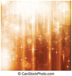 カード, ライト, 星, 光っていること, クリスマス