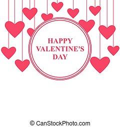 カード, 日, 心, バレンタイン, 掛かること