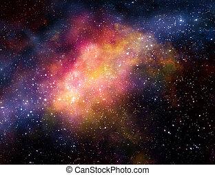 ガス, 星雲, 外の, 雲, スペース