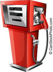 ガソリンポンプ, 赤