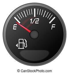 ガソリン, 燃料, メートル, ゲージ