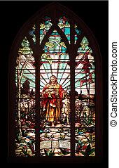 ガラス窓, 汚された, イエス・キリスト
