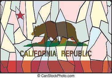 ガラス窓, 汚された, カリフォルニア