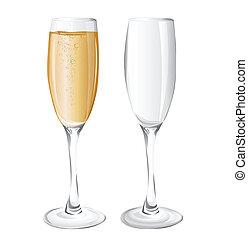 ガラス, シャンペン
