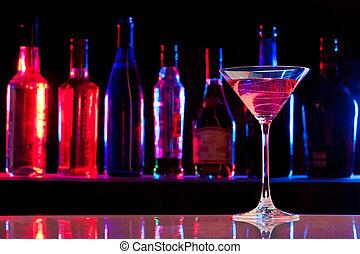 ガラス, 飲みなさい, バー, カクテル