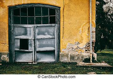 ガレージ, 古い, 捨てられた
