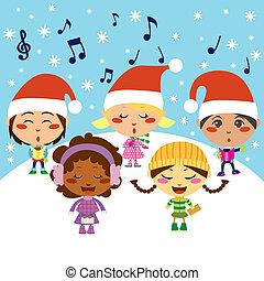 キャロル, クリスマス, 子供