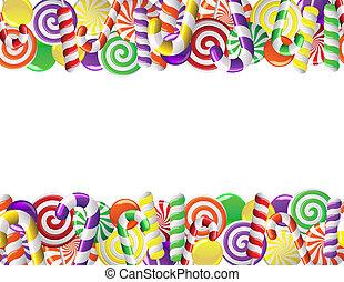 キャンデー, フレーム, 作られた, カラフルである