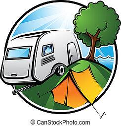 キャンプ, 区域