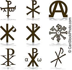 キリスト教徒, セット, vector.