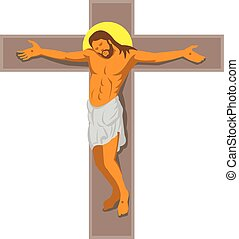キリスト, イエス・キリスト, 交差点, レトロ