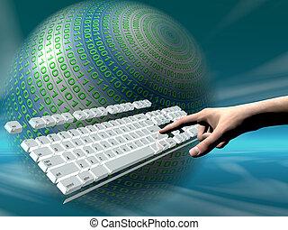 キーボード, アクセス, インターネット