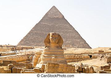 ギザ, スフィンクス, エジプト